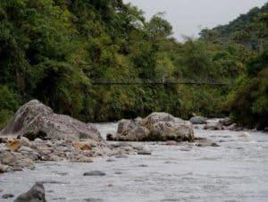 Cloudforest Bridge. Papallacta River . Napo - Ecuador.